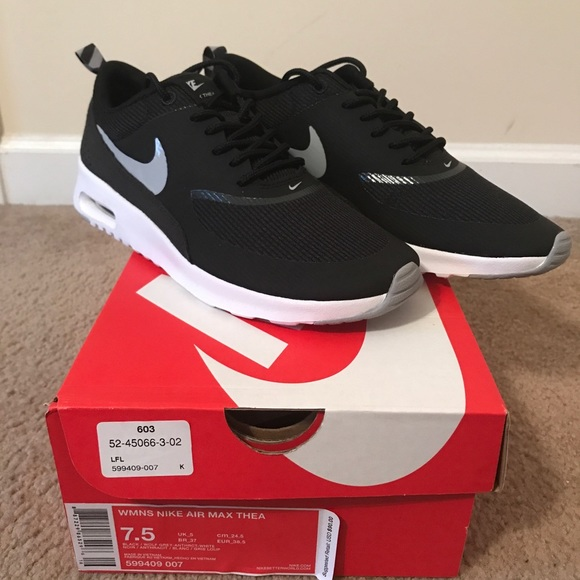 Size 3 Nike Air Max Thea Wolf Grey Red Violet Trainers For